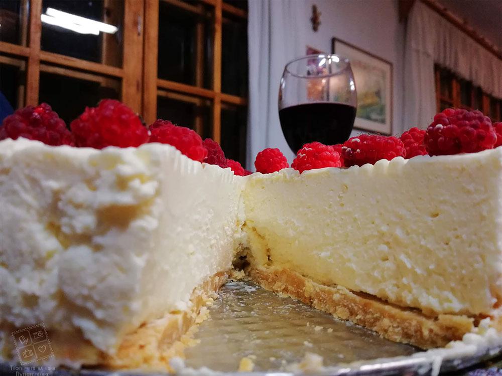 Вкусна домашна торта, приготвена с прясна сметана от мандра Родопа милк, село Смилян